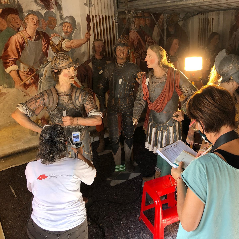 Students of the Swiss CRC – Conservazione e restauro SUPSI Lugano al lavoro al Sacro Monte